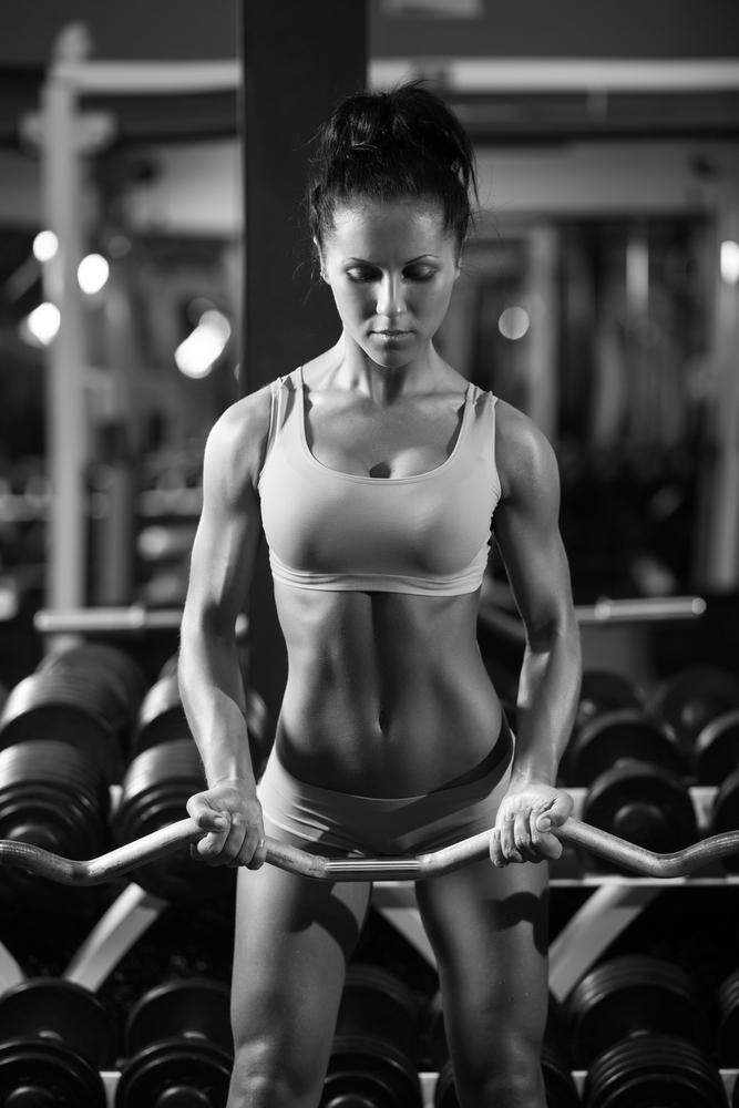 tjejer med muskler