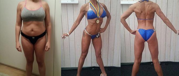 Caroline Winkler, tvåbarnsmamma, debuterade i bikini fitness